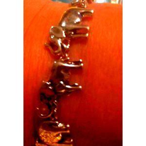 Vintage/Estate Silver ELEPHANT BRACELET~